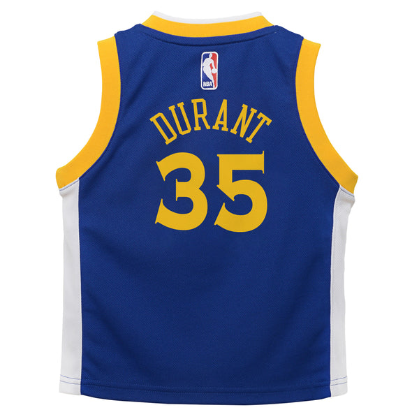 5d877de49a9 Nike Toddler Golden State Warriors Kevin Durant  35 Icon Replica NBA J –  Culture Kings