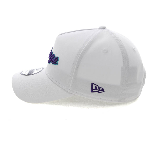 new product 36eba 8006c New Era Chicago 9FORTY A-Frame Script Snapback White Purple Teal – Asblrcr