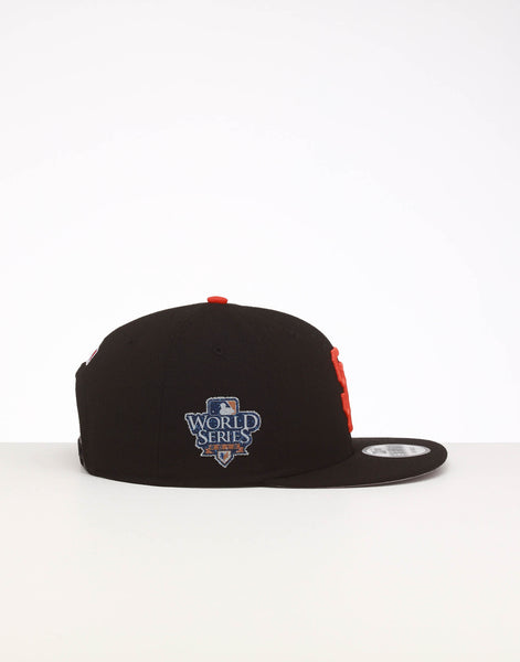 8fc544f8 New Era San Francisco Giants 9FIFTY SWAROVSKI '10 Snapback Black/Orange