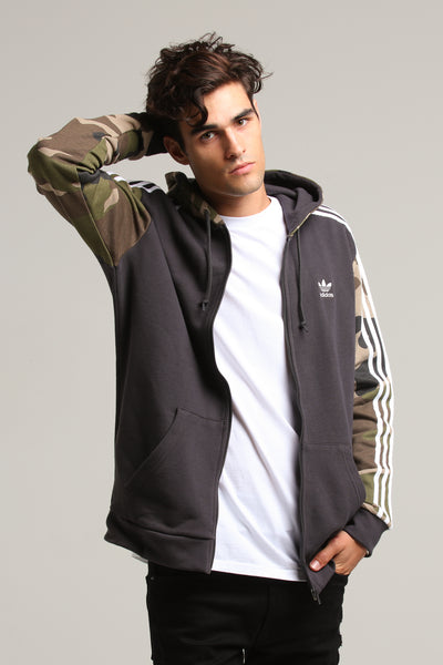 Camo Adidas Full Black Zip Hoody y0wP8nmOvN
