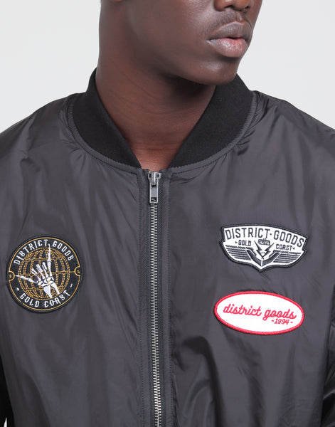 28a5e2836 District Goods Scepter Bomber Black