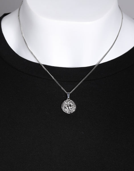 9fa531af9c9 Midnight City St George Pendant & Chain Silver – Culture Kings