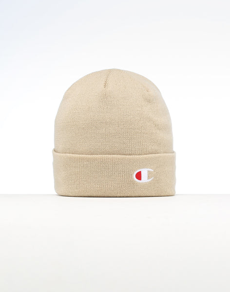 4d33a6202d094 Champion C Life Logo Beanie Taupe – Culture Kings