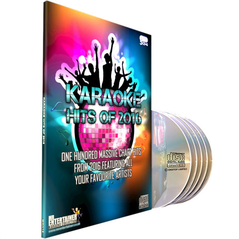 Mr Entertainer Karaoke Hits of 2016 - 100 Song 5 Disc CD+G Set