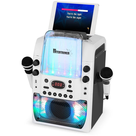 Mr Entertainer KAR123 Bluetooth Karaoke Machine with Dancing Water Lights