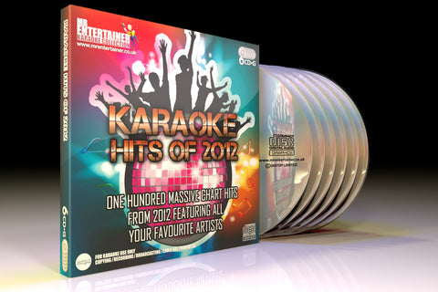 Mr Entertainer Karaoke Hits of 2012 - 100 Song 6 Disc CD+G Set