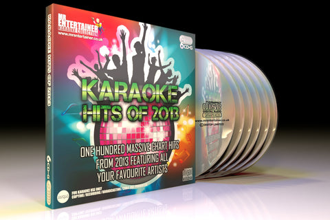Mr Entertainer Karaoke Hits of 2013 - 100 Song 6 Disc CD+G Set
