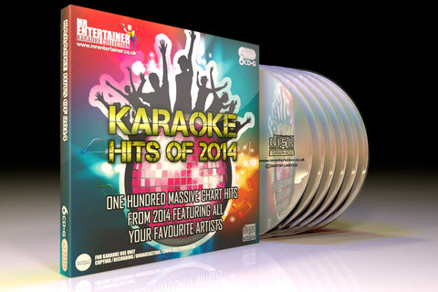 Mr Entertainer Karaoke Hits of 2014 - 100 Song 6 Disc CD+G Set