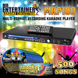 Mr Entertainer MKP100 Karaoke Player. Family Party Mega Bundle (500 Songs)