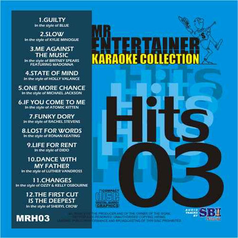 MRH003 - Chart Hits Volume 3  December 2003