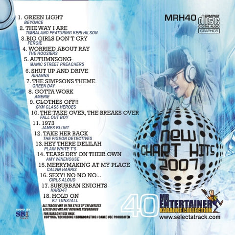 MRH040 - Chart Hits Volume 40  August 2007