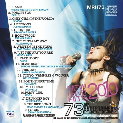 MRH073 - Chart Hits Volume 73  October 2010
