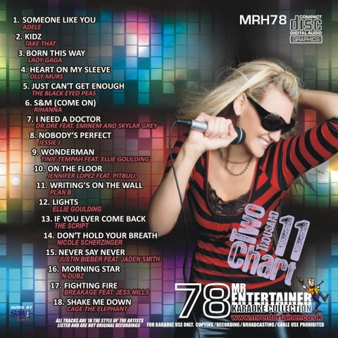 MRH078 - Chart Hits Volume 78  March 2011