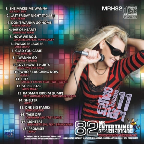 MRH082 - Chart Hits Volume 82  July 2011