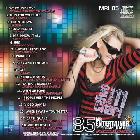 MRH085 - Chart Hits Volume 85  October 2011