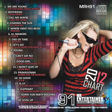 MRH091 - Chart Hits Volume 91  April 2012