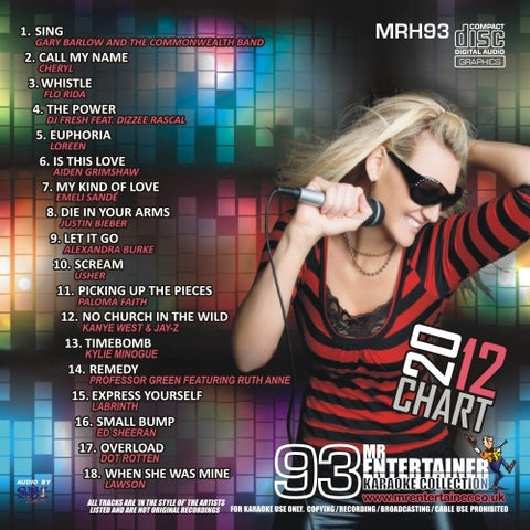MRH093 - Chart Hits Volume 93  June 2012