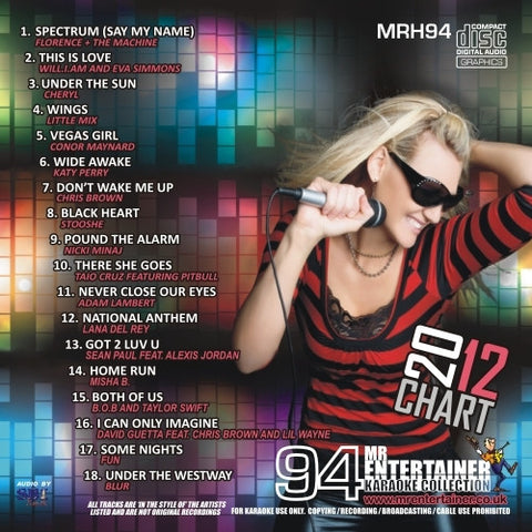 MRH094 - Chart Hits Volume 94  July 2012