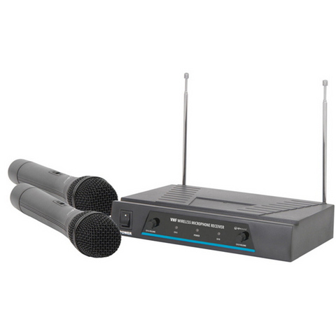 Dual Handheld Wireless Microphone System VHF