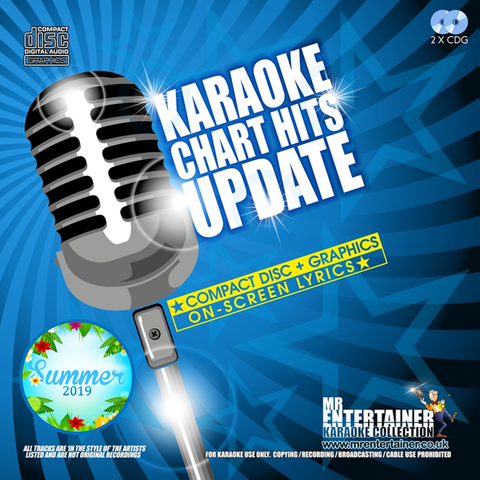 Mr Entertainer Karaoke Chart Hits Update - Summer 2019