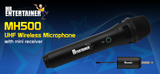 Mr Entertainer MH500 UHF Wireless Microphone with Mini Receiver