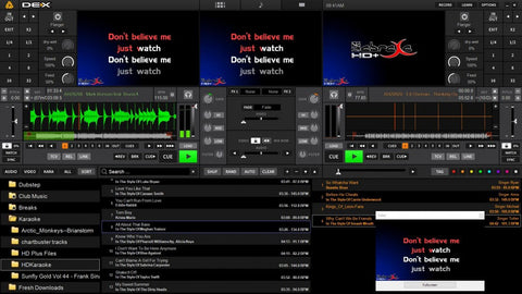 PCDJ - Dex 2 0 - Professional Club/Mobile DJ Software for Windows and MAC  (audio, video, karaoke) (3 0 upgrade inc)