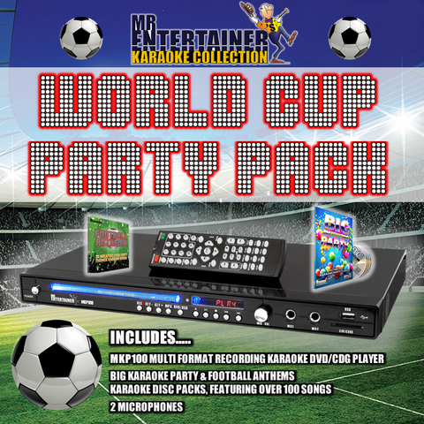 Mr Entertainer MKP100 Karaoke Player. World Cup Party Package