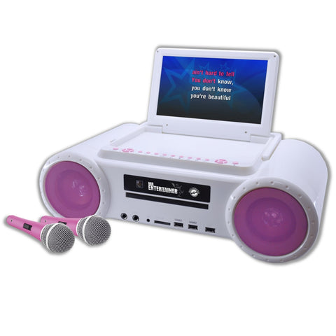 Mr Entertainer PartyBox (White & Pink) (Refurbished)