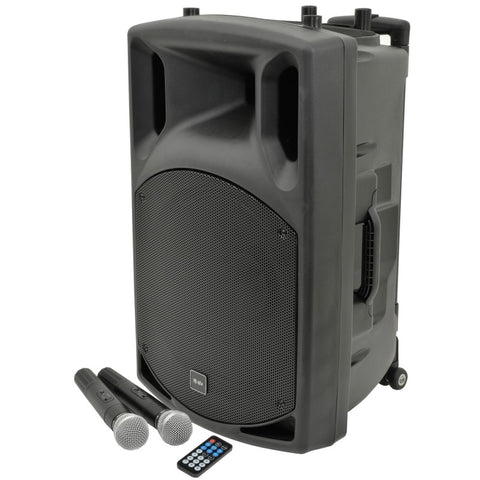 "Karaoke Speaker & Wireless Mic Package - 15"" Speaker 100W"