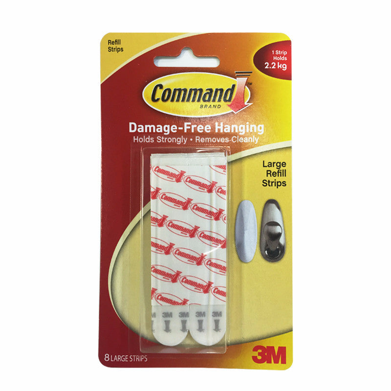 Command™ 17023P-8PK Large Refill Strips - 1HomeShop.sg