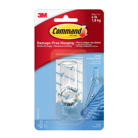 Command™ 17096CLR-ES Clear Large Crystal Hook - 1HomeShop.sg