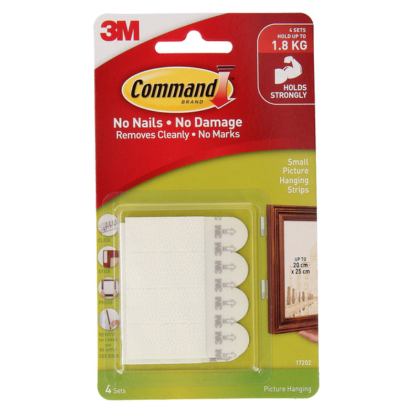 Command™ 17202ANZ Small Picture Hanging Strips - 1HomeShop.sg