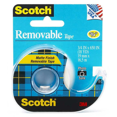 "Scotch® 224 Removable Tape, 3/4"" x 650"" - 1HomeShop.sg"