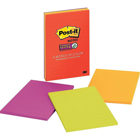 Post-it® 4621-SSAN Super Sticky Lined Marrakesh