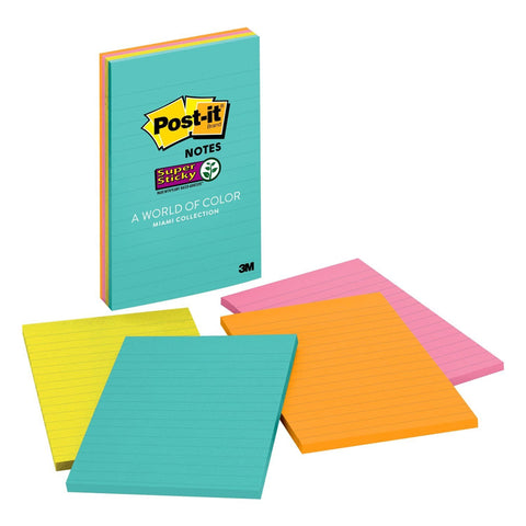 "Post-it® 4621-SSMIA Lined Super Sticky Notes, 4X6"" - 1HomeShop.sg"
