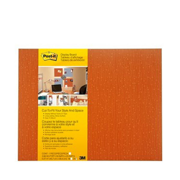 "Post-it® 558F-TNG Cut-to-Fit Display Board Tangelo, 18x23"" - 1HomeShop.sg"