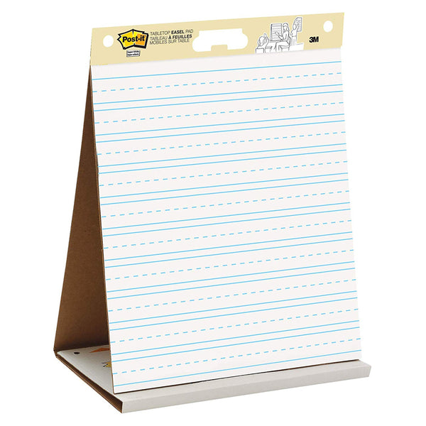 "Post-it® 563PRL Tabletop Easel Pad, Primary Ruled Lined, 20x23"" - 1HomeShop.sg"