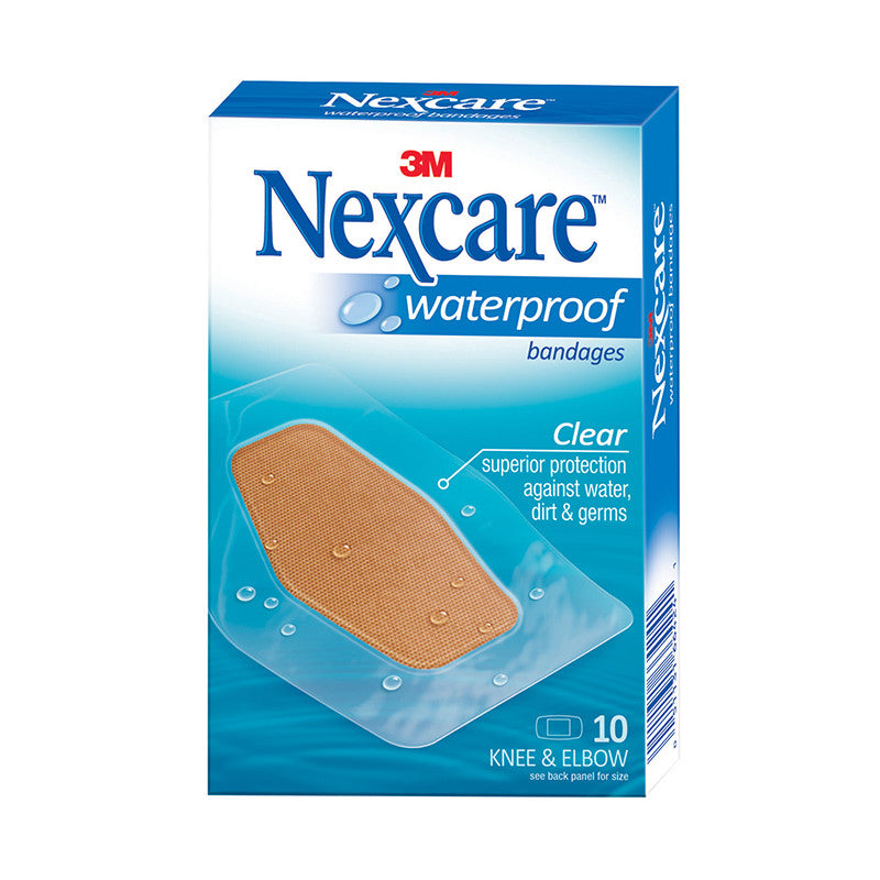 Nexcare™ 582-10 Waterproof Bandages Knee & Elbow 10s - 1HomeShop.sg