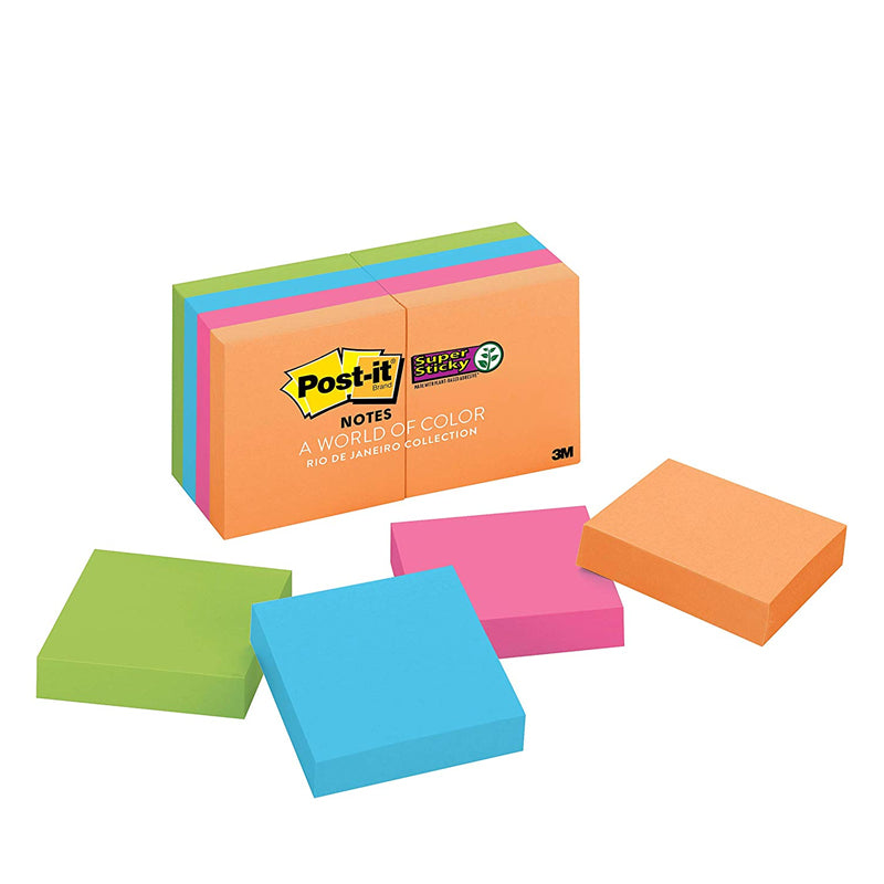 "Post-it® 622-8SSAU Super Sticky Notes, 2x2"" - 1HomeShop.sg"