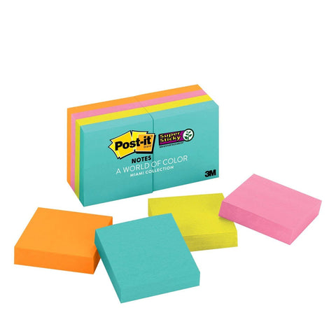 "Post-it® 622-8SSMIA Super Sticky Notes, 2x2"" - 1HomeShop.sg"