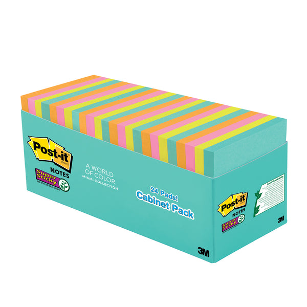 "Post-it® 654-24SSMIA-CP Super Sticky Notes, 24pads/box, 3X3"" - 1HomeShop.sg"