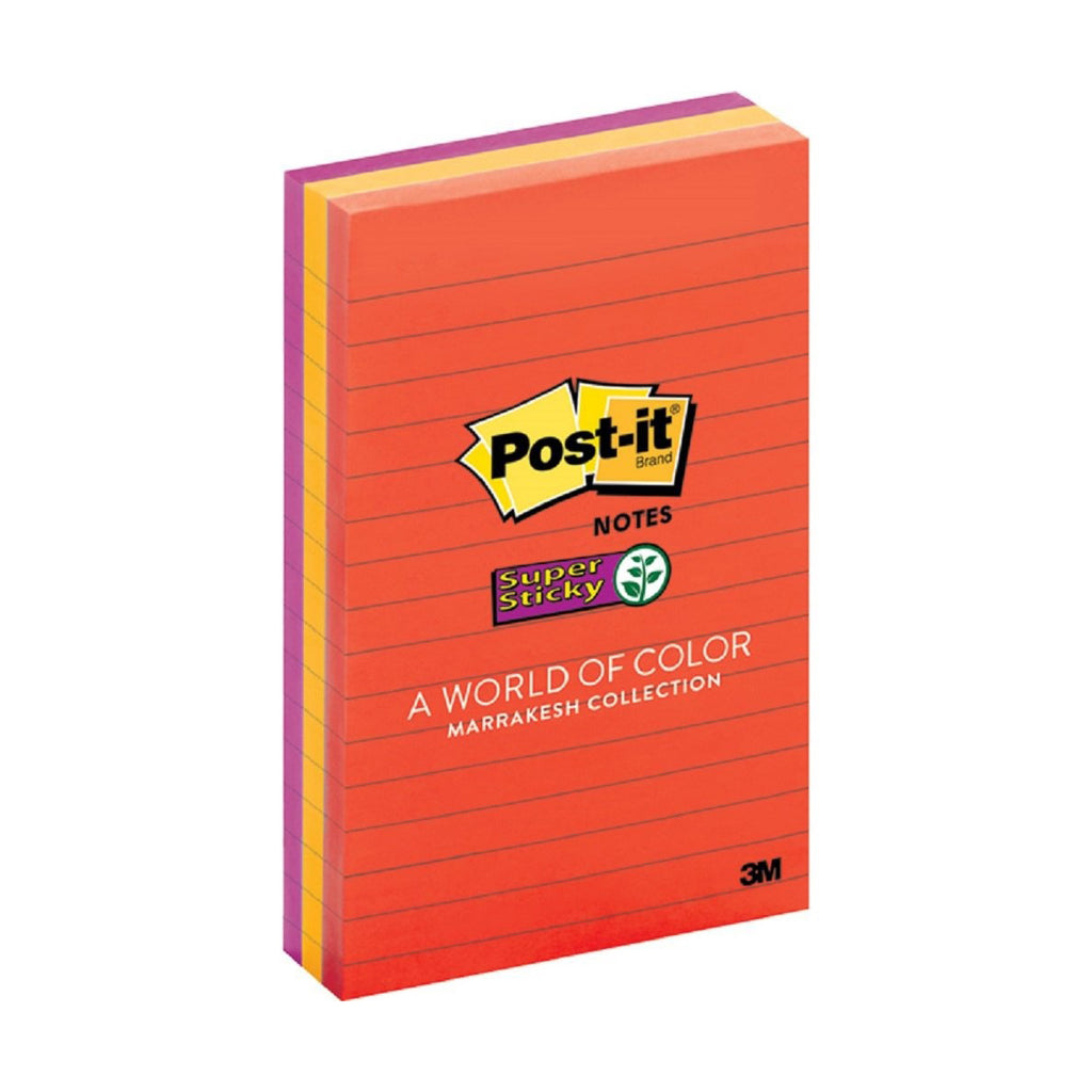 Post-it® 660-3SSAN Super Sticky Lined Notes, 4x6""