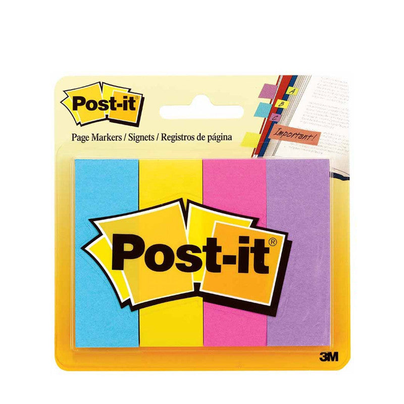 Post-it® 671-4AU Assorted Ultra Colours Pagemarkers, 1x3'' - 1HomeShop.sg