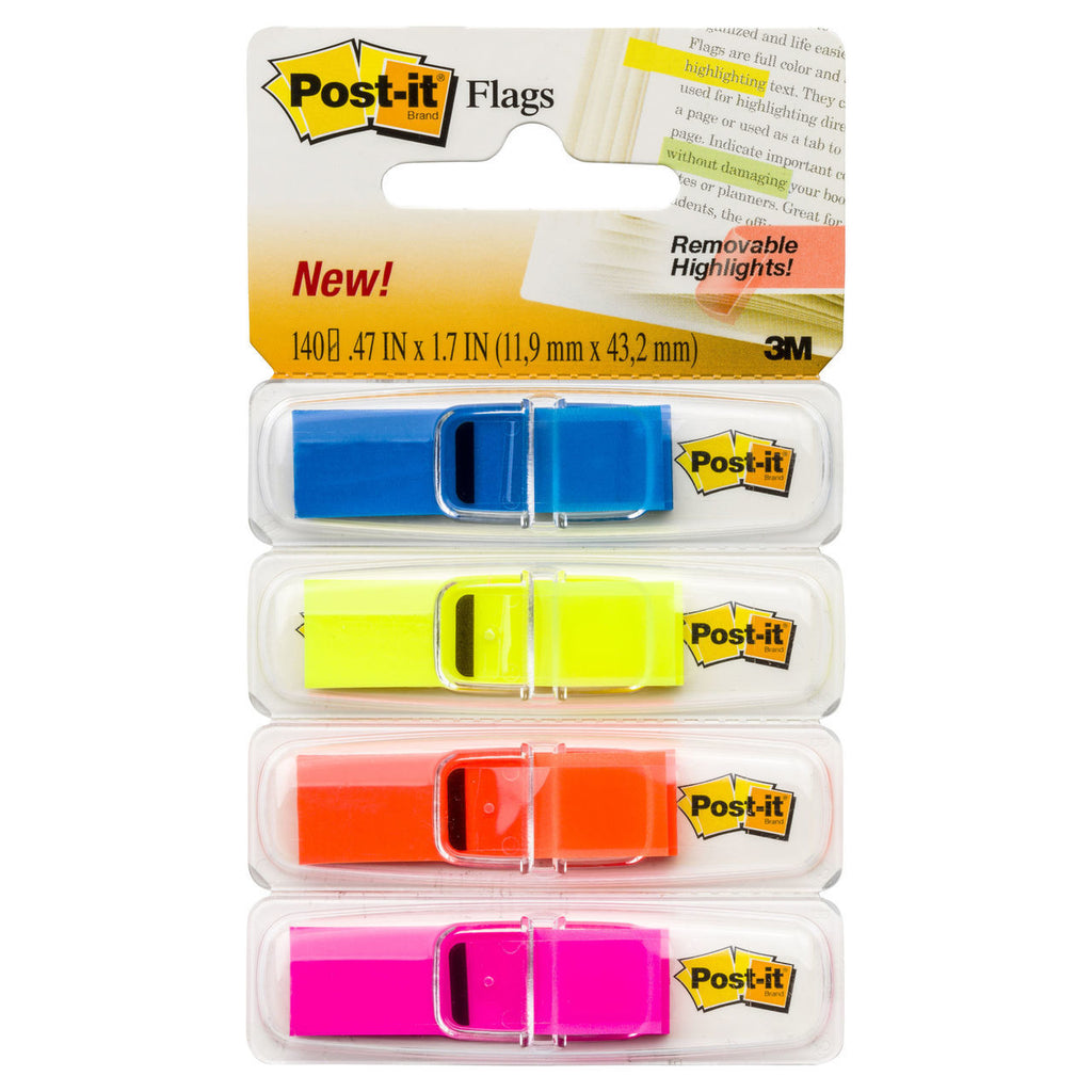 "Post-it® 683-4ABX Highlight Flags, 0.47x1.7"" - 1HomeShop.sg"