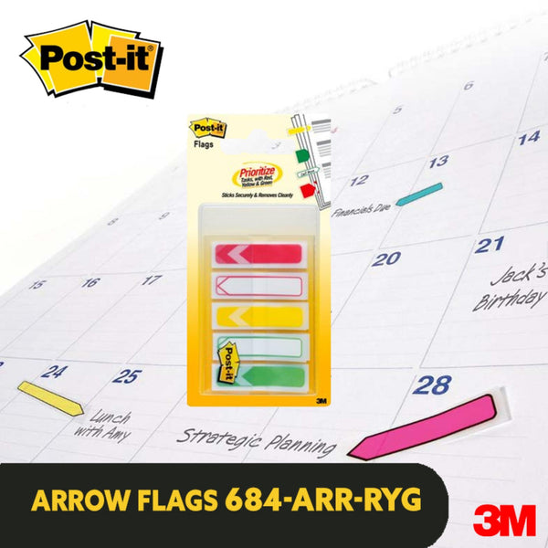Post-it® 684-ARR-RYG Prioritization Flags - 1HomeShop.sg