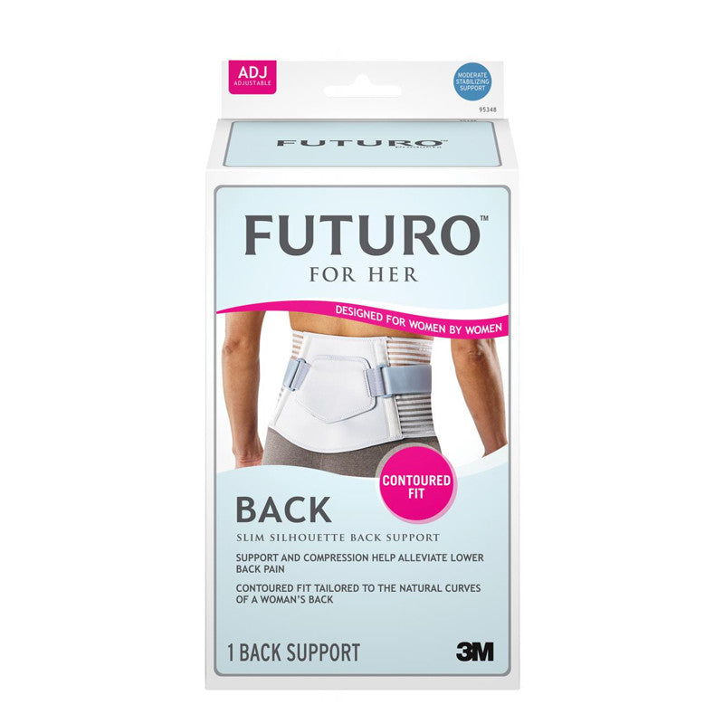 FUTURO™ 95348EN For Her Slim Silhouette Back Support - Regular, Adjustable - 1HomeShop.sg