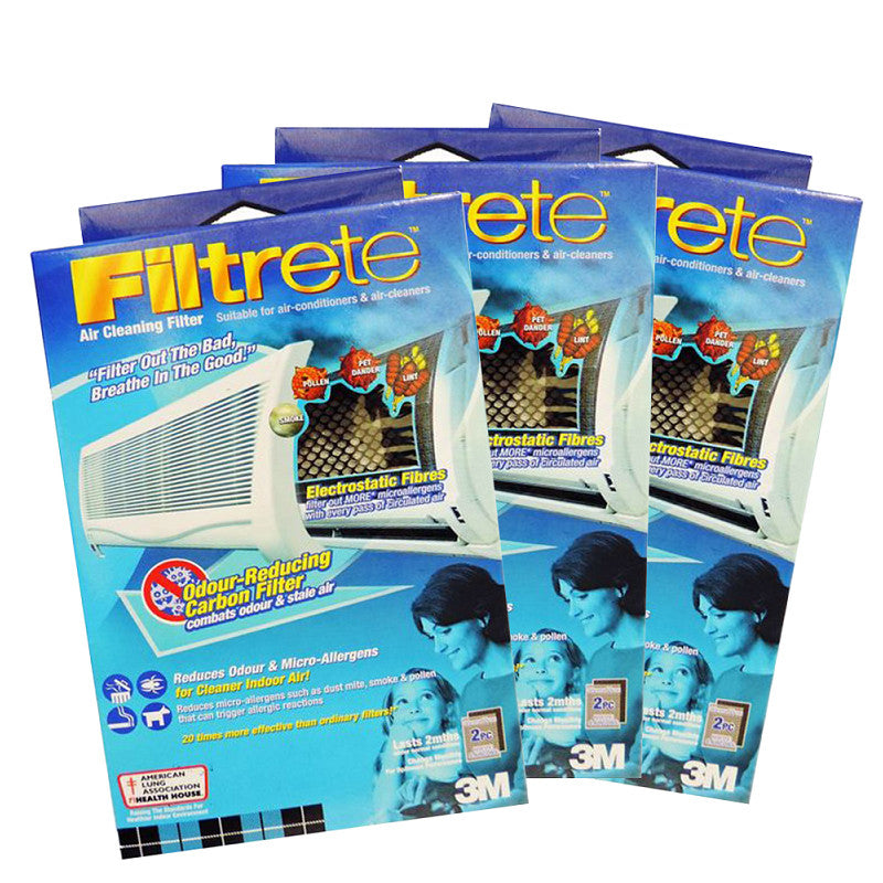 Filtrete™ 9808-2C Aircon Odour Reducing Carbon Filter 30x60cm (Bundle of 3) - 1HomeShop.sg