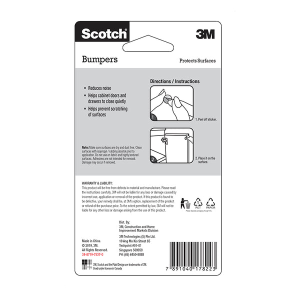Scotch™ BP-10C Bumpons Circle, 10mm - 1HomeShop.sg