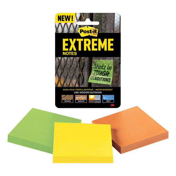 Post-it® EXTRM33-3TRYMX Extreme Notes, 3 pads - 1HomeShop.sg