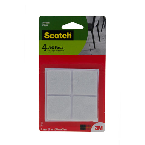 Scotch™ FP-38S Felt Pad Squares, 38x38mm - 1HomeShop.sg